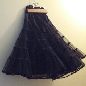 Vintage - From the late 1980's - Black Crinoline